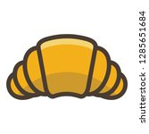 croissant icon. single high... | Shutterstock .eps vector #1285651684