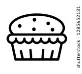 muffin icon. single high... | Shutterstock .eps vector #1285652131