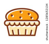 muffin icon. single high... | Shutterstock .eps vector #1285652134