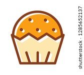 muffin icon. single high... | Shutterstock .eps vector #1285652137