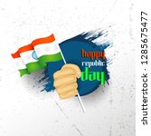 indian republic day concept... | Shutterstock .eps vector #1285675477