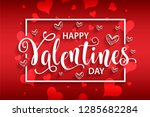 happy valentines day card.... | Shutterstock .eps vector #1285682284