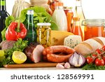composition with variety of... | Shutterstock . vector #128569991