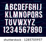trendy style distorted glitch... | Shutterstock .eps vector #1285705957