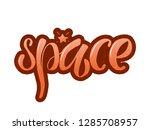 vector illustration of space... | Shutterstock .eps vector #1285708957