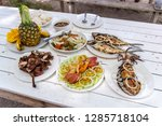 famous filipino food on the... | Shutterstock . vector #1285718104