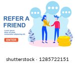 refer a friend concept with... | Shutterstock .eps vector #1285722151