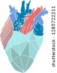 vector illustration with heart... | Shutterstock .eps vector #1285722211
