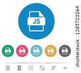 js file format flat white icons ...