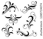 royal ornament swirls  flourish ... | Shutterstock .eps vector #1285724074