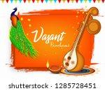 indian festival vasant panchami ...   Shutterstock .eps vector #1285728451