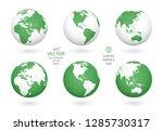 earth illustration. each... | Shutterstock .eps vector #1285730317