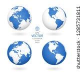 earth illustration. each... | Shutterstock .eps vector #1285731811