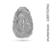 fingerprint vector icon... | Shutterstock .eps vector #1285731961