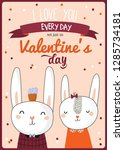 beautiful love card for... | Shutterstock .eps vector #1285734181