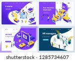 set colorful isometric concept... | Shutterstock .eps vector #1285734607