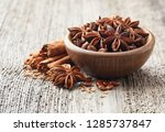 cinnamon bark with anise star | Shutterstock . vector #1285737847