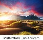 majestic view of stokksnes cape ... | Shutterstock . vector #1285739974