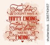 romantic love quote. love card | Shutterstock .eps vector #1285743457