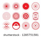 set of assorted round logos of... | Shutterstock .eps vector #1285751581