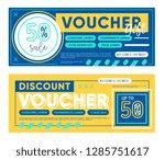 gift voucher. discount coupon... | Shutterstock .eps vector #1285751617