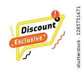 exclusive discount coupon with... | Shutterstock .eps vector #1285751671