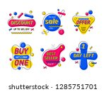 special offer of discount label.... | Shutterstock .eps vector #1285751701