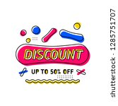 discount coupon with 50  off... | Shutterstock .eps vector #1285751707