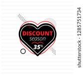 black heart banner offering... | Shutterstock .eps vector #1285751734