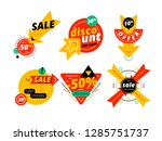 discount banner and sale tag... | Shutterstock .eps vector #1285751737