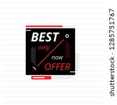 black square banner with... | Shutterstock .eps vector #1285751767
