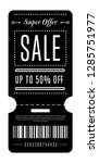 sale tag template on 50 ... | Shutterstock .eps vector #1285751977