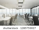 clean office interior with... | Shutterstock . vector #1285753027
