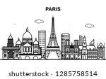 paris city tour cityscape... | Shutterstock .eps vector #1285758514