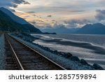 railway from anchorage to seward | Shutterstock . vector #1285759894