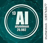 aluminum chemical element. sign ... | Shutterstock .eps vector #1285763677