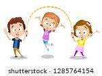 happy young best friends... | Shutterstock .eps vector #1285764154