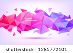 vector abstract geometric low... | Shutterstock .eps vector #1285772101