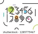 set of modern line numbers   Shutterstock .eps vector #1285775467
