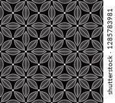 seamless black and white... | Shutterstock .eps vector #1285783981