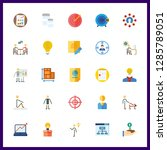 25 strategy icon. vector... | Shutterstock .eps vector #1285789051