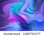 modern colorful flow poster.... | Shutterstock .eps vector #1285792177
