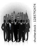 business team against the... | Shutterstock .eps vector #1285792474