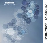 hexagonal abstract background.... | Shutterstock .eps vector #1285802464