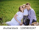 family on a picnic in the... | Shutterstock . vector #1285803247