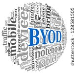 byod   bring your own device...   Shutterstock . vector #128581505