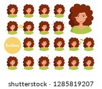 woman with different emotions.... | Shutterstock .eps vector #1285819207