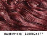 single piece clip in claret red ...   Shutterstock . vector #1285826677