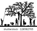 editable vector silhouettes of... | Shutterstock .eps vector #128582705