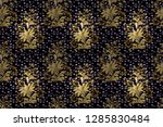 vintage seamless pattern on a... | Shutterstock . vector #1285830484